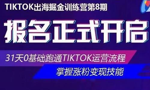 优联荟《TikTok出海掘金训练营》第8期培训视频